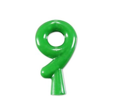 Vela de Aniversário Verde Neon Número 9