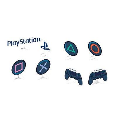 Decoração de Mesa - Playstation - 08 unidades