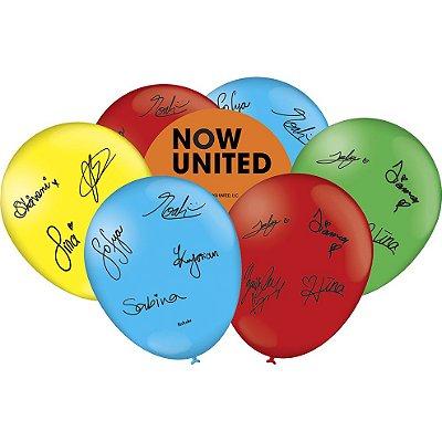 Balão Látex Now United 25 unidades Festcolor