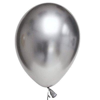 Balão Cromado n° 9 Prata - Art Latex
