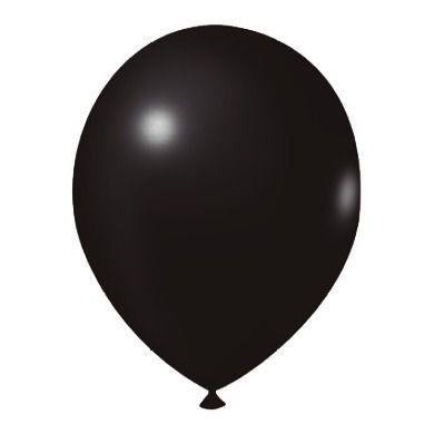 Balão Látex n° 9 - Preto - 50 Unidades