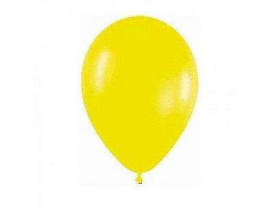 Balão Látex n° 8 - Amarelo - 50 Unidades