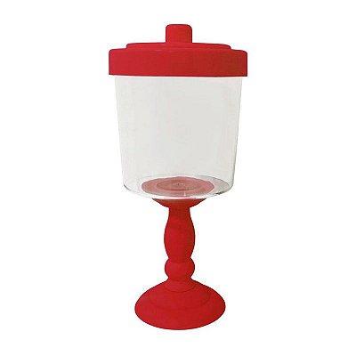Baleiro Decorativo para Festa - 26 cm - Vermelho
