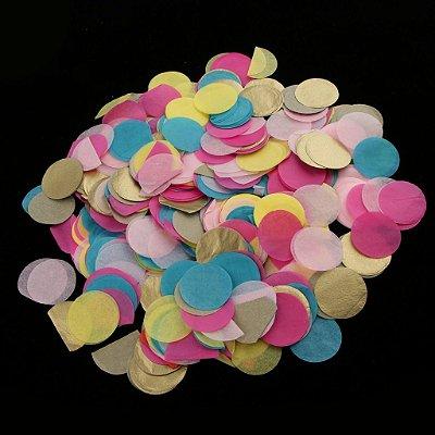 Confete Colorido Papel - 2 cm - 200 pçs