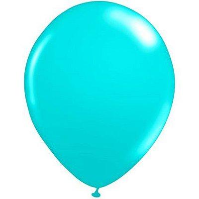 Balão Látex n° 9 - Azul Tiffny- 50 Unidades