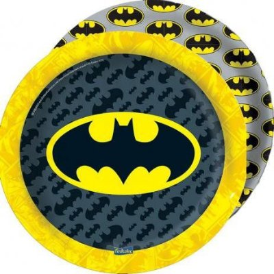 Prato de Papel - Festa Batman Geek - 8 unidades