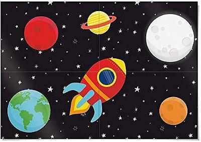 Painel 4 partes Astronauta