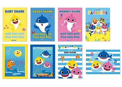 Cartaz Decorativo - Baby Shark - 08 unidades