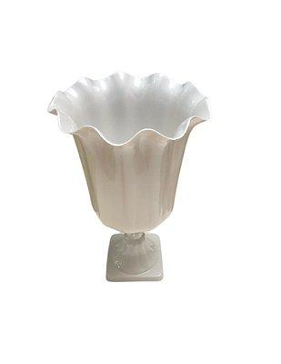 Vaso Grego Luxo de Plástico - Branco Perolado - Com Extensor