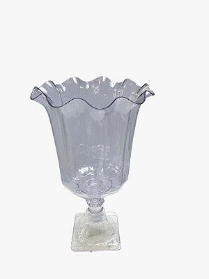 Vaso Grego Luxo de Plástico - Transparente - Com Extensor
