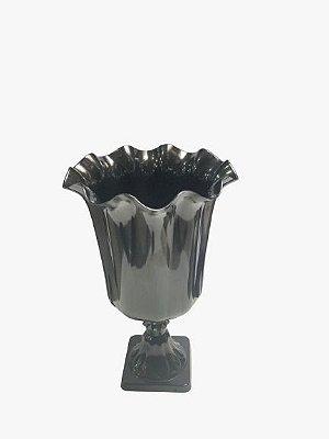 Vaso Grego Luxo de Plástico - Preto - Com Extensor