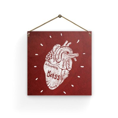 Placa - Heart - 19 X 19