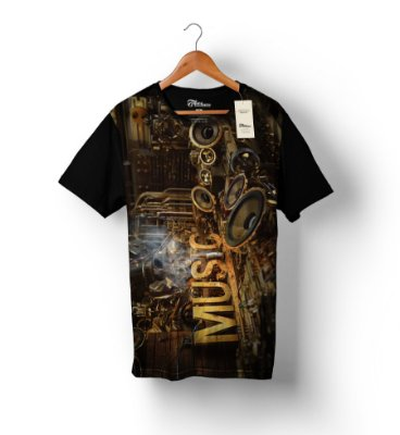 Camiseta Full Print - Music