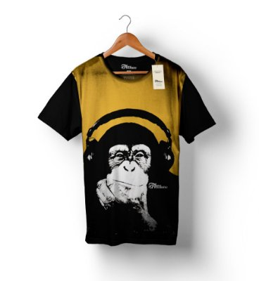 Camiseta Full Print - Monkey Music