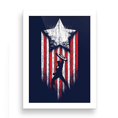 Quadro - Capitão América 1 - 20 X 30