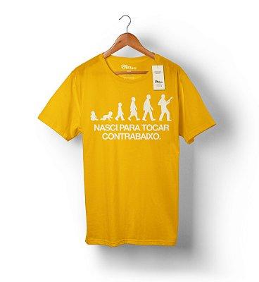Camiseta Nasci Para Tocar Contrabaixo