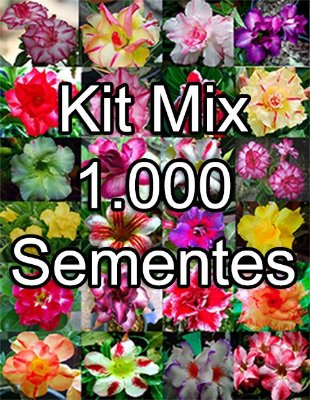 KIT MIX 1000 sementes de Rosa do Deserto