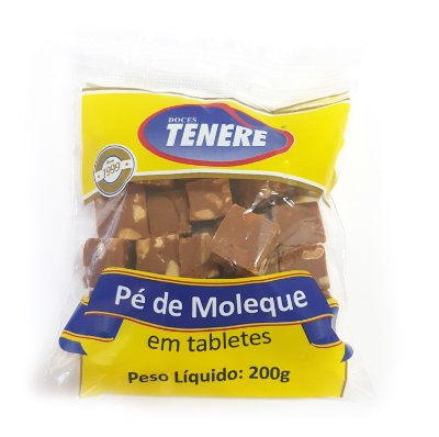 PÉ DE MOLEQUE EM TABLETE 200G - DOCES TENÉRE
