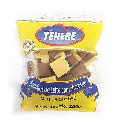 FONDANT DE LEITE COM CHOCOLATE EM TABLETES 200g - DOCES TENÉRE