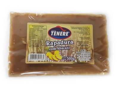 RAPADURA COM ABACAXI 500g -  DOCES TENÉRE