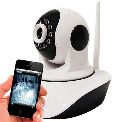 Câmera Wifi Visão Noturna Microfone S/ Fio
