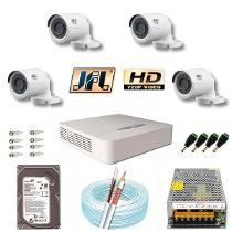 Kit Cftv 4 Câmeras Jfl Hd-tvi 720p Dvr 4 Canais Jfl Wd-4204