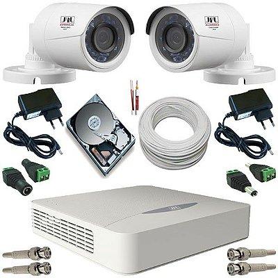 Kit CFTV 2 Câmeras Jfl