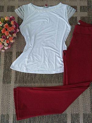 294 | Blusa com pérolas - Branca