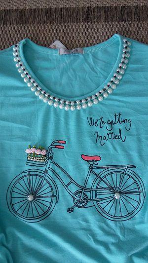 220 | T-Shirt Bicicleta Azul Aqua