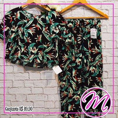 Conjunto de Blusa e Calça Estampado
