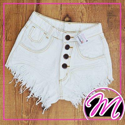 Shorts Jeans Off White 4 Botões