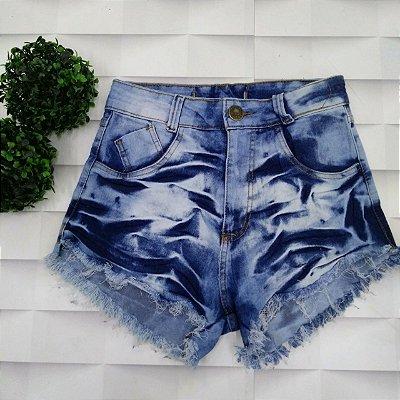 Shorts Jeans Manchado 1 Botão