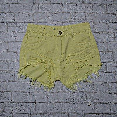 Shorts Jeans Amarelo
