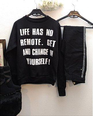 Blusa Moletom LIFE HAS NO REMOTE