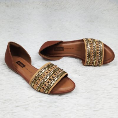 Sandália Dakota Rasteira Tira Bronze