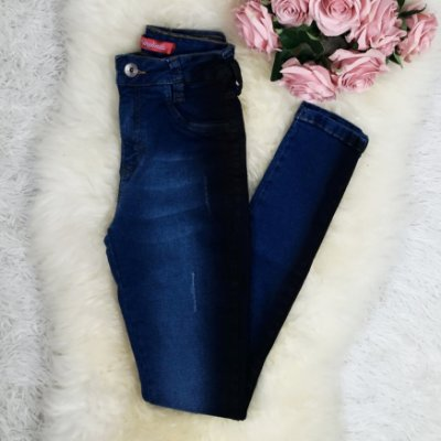 Calça Jeans com Macha Degradê