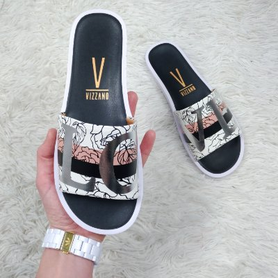 Chinelo Slide Love com estampa