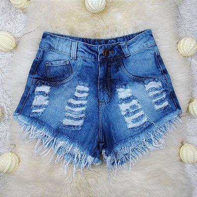 Shorts Jeans Dois Rasgos
