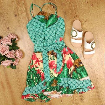 Vestido Estampado de Alcinha