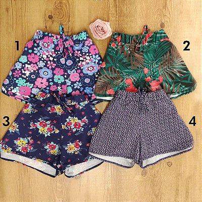 Shorts de Malha Estampado