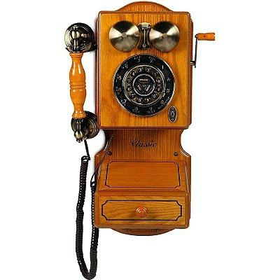 Telefone Retro Classic Bell 32388 com Fio e Rediscagem