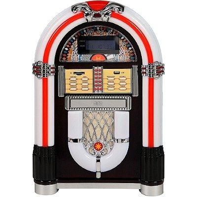 Jukebox Classic Las Vegas Branco 31903 Bivolt com CD e MP3 Player