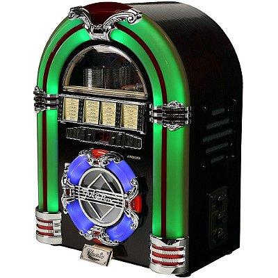 Jukebox Classic Compacto Verde 27296 Bivolt com CD e MP3 Player