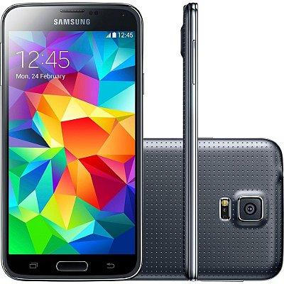 Smartphone Samsung Galaxy S5 Desbloqueado Preto Memória Interna 16GB