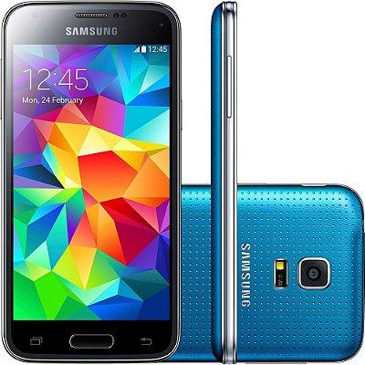 Smartphone Samsung Galaxy S5 Mini Duos Desbloqueado Dual Chip Azul