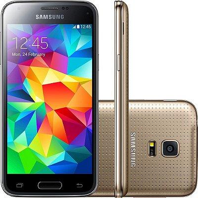 Smartphone Samsung Galaxy S5 Mini Duos Desbloqueado Dual Chip Dourado
