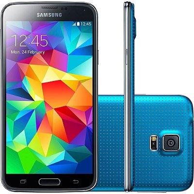 Smartphone Samsung Galaxy S5 Desbloqueado Azul Memória Interna 16GB