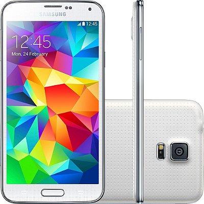 Smartphone Samsung Galaxy S5 Desbloqueado Branco Memória Interna 16GB