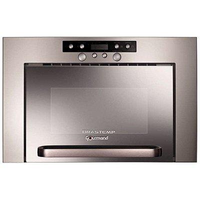 Microondas de Embutir Brastemp Gourmand Inox 20L BME25BR 220V