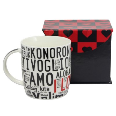 Caneca I Love You Idiomas
